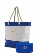Beach Tote Bag with Towel | Personalized | Monogram