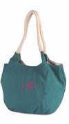 Canvas Bucket Handbag Tote | Monogram
