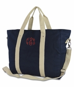 Canvas Getaway Tote Bag - Monogram | Personalized