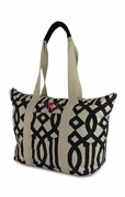 Canvas Weekender Tote Bag | Monogram