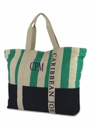 Caribbean Joe Stripe Beach Tote | Personalized