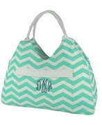 Chevron Beach Bag Tote
