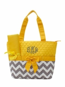 Chevron Diaper Bag | Monogrammed