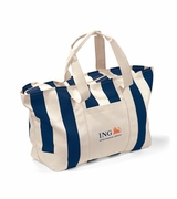 Custom Large Striped Canvas Tote