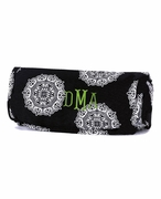 Black Medallion Jewelry Case - Monogram