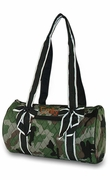 Embroidered Camo Duffel Bag