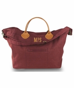 Embroidered Canvas Duffle Bag | Large