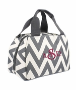 Embroidered Chevron Lunch Tote | Personalized