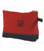Embroidered Cosmetic Bag | Canvas