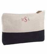 Embroidered Cosmetic Travel Bag | Monogram