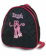 Embroidered Dance Backpack Purse