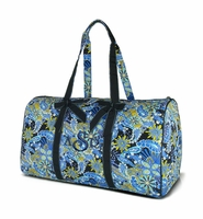 Embroidered Floral Quilted Duffel Bag