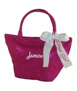 Embroidered Flower Girl Tote
