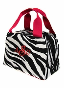 Embroidered Lunch Tote - Zebra