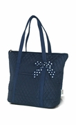 Embroidered Quilted Tote Bag