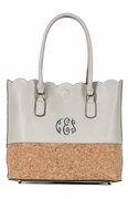 Faux Leather Carry All Tote Bag | Monogrammed