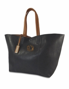 Faux Leather Large Monogram Tote