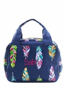 Feather  Monogram Lunch Tote