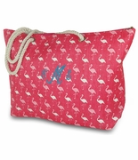 Flamingo Beach Tote Bag | Personalized
