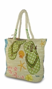 Flip Flop Beach Tote - Monogram | Embroidered