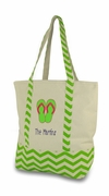 Flip Flop Beach Tote - Personalized