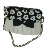 Girls Mini Purse | Black White