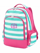 Girls Striped Backpack | Personalized