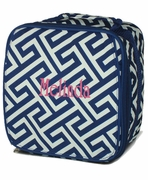 Greek Key Lunch Tote- Monogrammed
