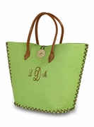 Jute Beach Bag | Monogram