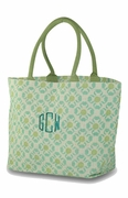 Jute Floral Tote Bag    Personalized