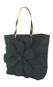 Jute Flower Tote Bag