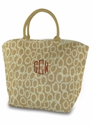 Jute Pattern Tote Bag  | Personalized