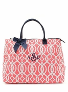 Large Quilted Monogram Tote
