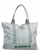 Michigan State Tote Bag | Monogram | Embroidered