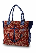 Monogram Anchor Summer Tote