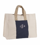 Monogram Canvas City Tote Bag | Embroidered