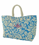 Monogram Canvas Beach Tote