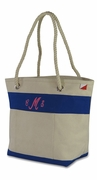 Monogram Canvas Beach Tote - Stripe