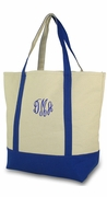 Monogram Canvas Boat Tote