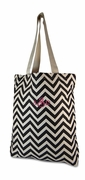 Monogram Chevron Tote Bag
