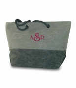 Monogram Color Block Tote Bag