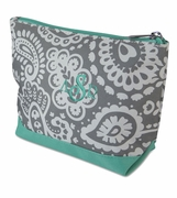Monogram Damask Cosmetic Bag