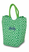 Monogram Damask Lunch Tote Bag