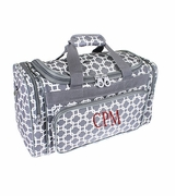Monogram Duffle Bag | Chain Link Pattern