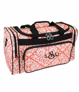 Monogram Duffle Bag | Damask Pattern