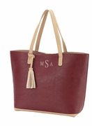 Monogram Faux Leather Woman's Business Tote