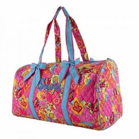 Monogram Floral Quilted Duffle Bag