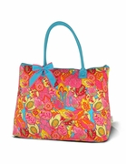 Monogram Floral Tote Bag