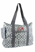 Monogram Geometric Tote Bag