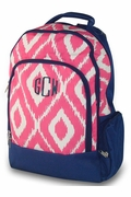 Monogram Ikat Backpack | Embroidered